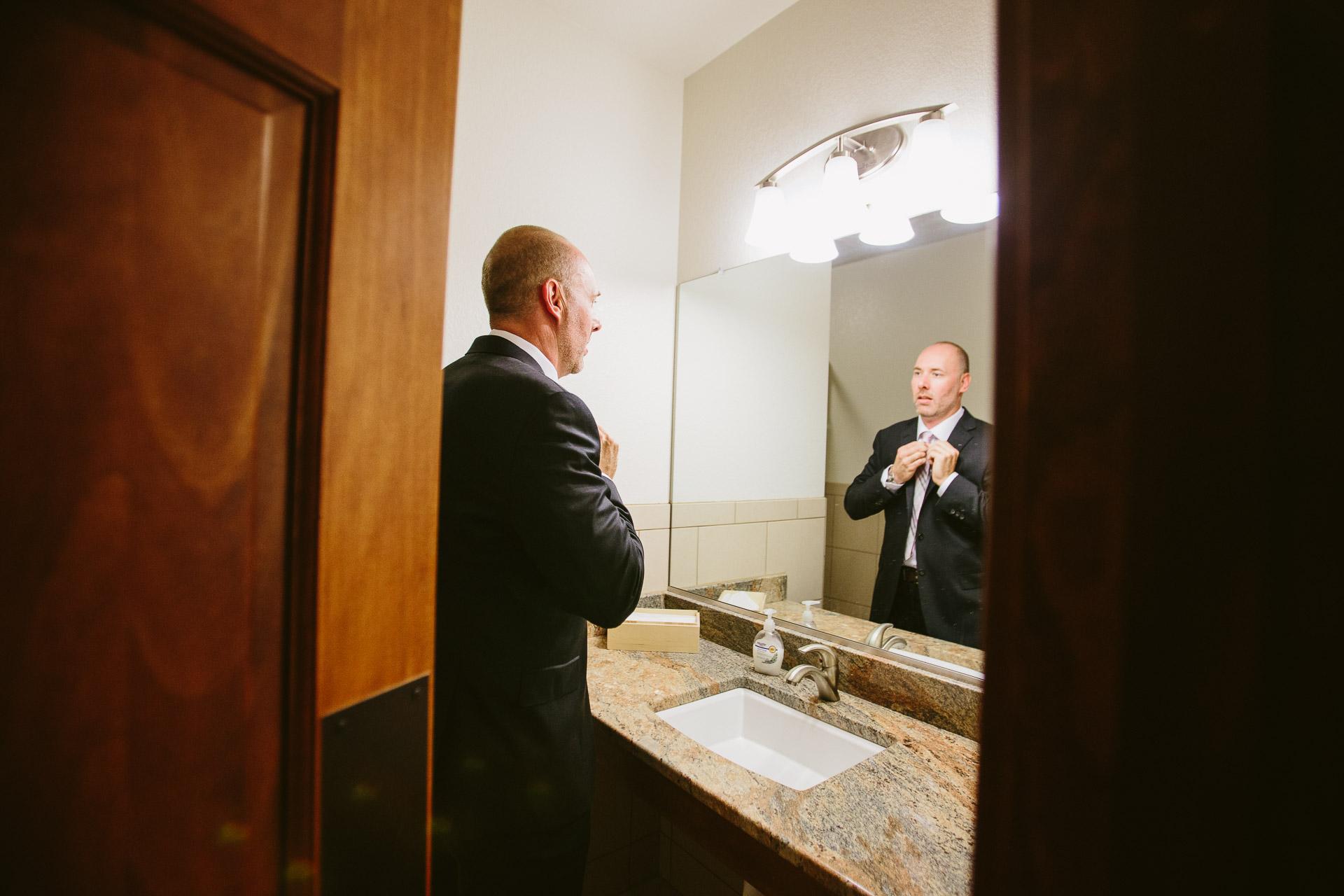 Colorado Wedding Photography - Fix The Tie